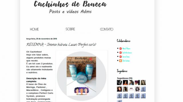 Blog Cachinhos de Boneca